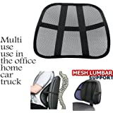JM SELLER Car Seat Chair Massage Back Lumbar Support Mesh Ventilate Cushion Pad (Set of 2)
