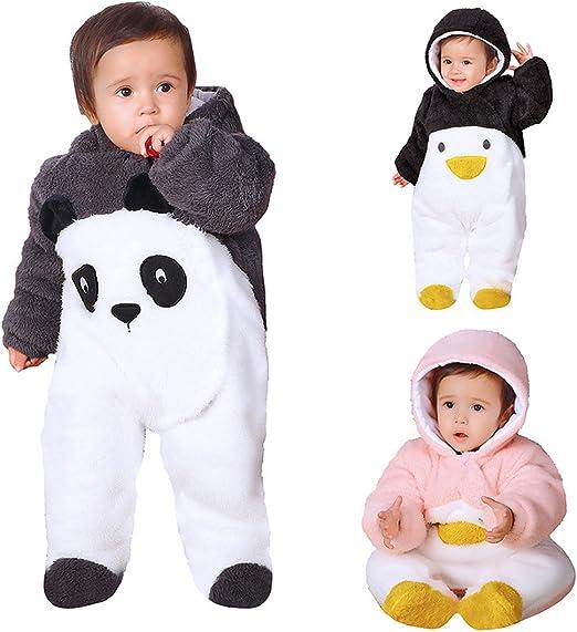 UyGFYytg Cute Penguin Baby Newborn Crawling Suit Sleeveless Onesie Romper Jumpsuit Black