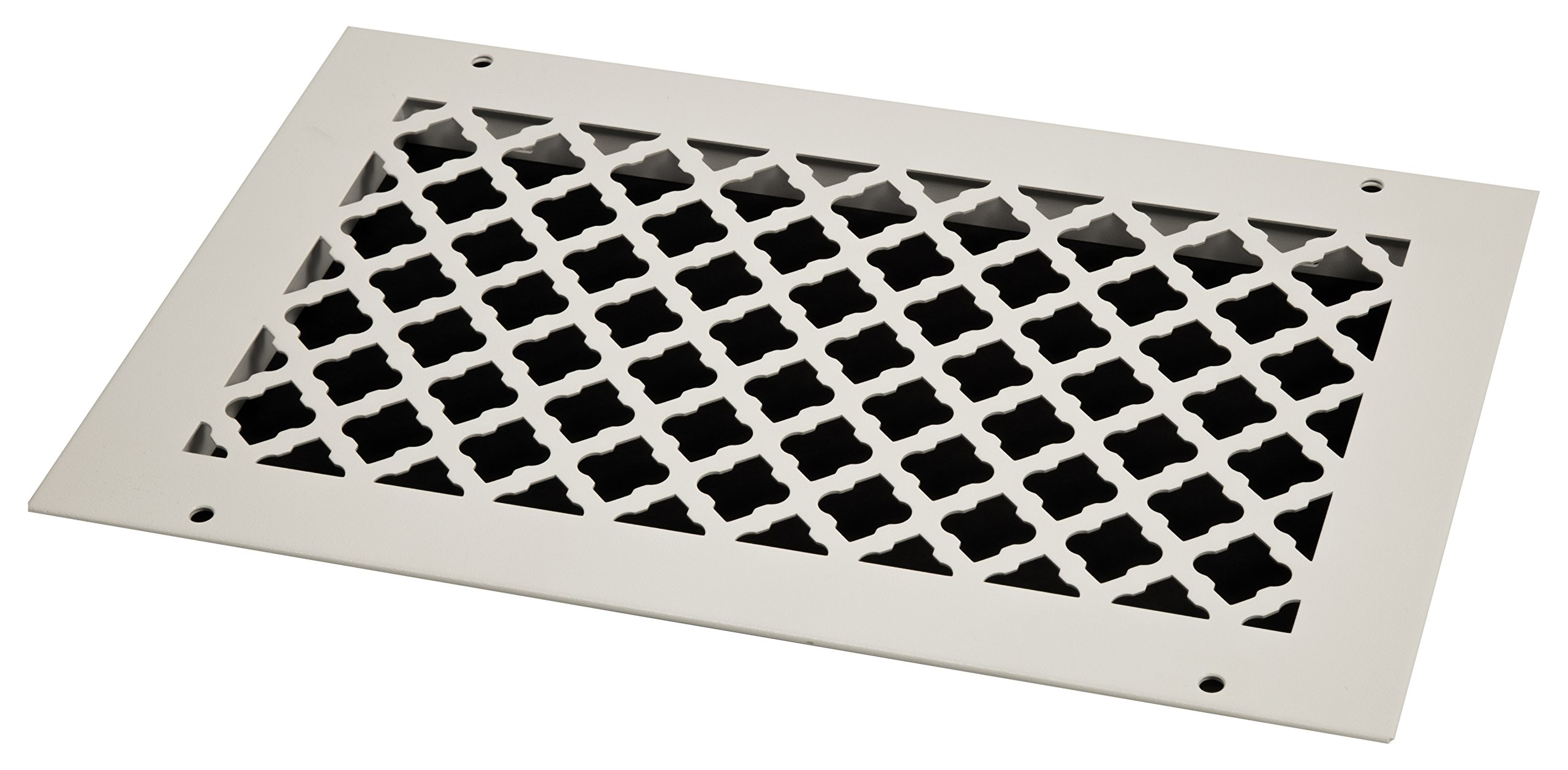 SteelCrest BTU14X8RWHH Bronze Series Designer Wall/Ceiling Vent Cover, with Mounting Screws, White