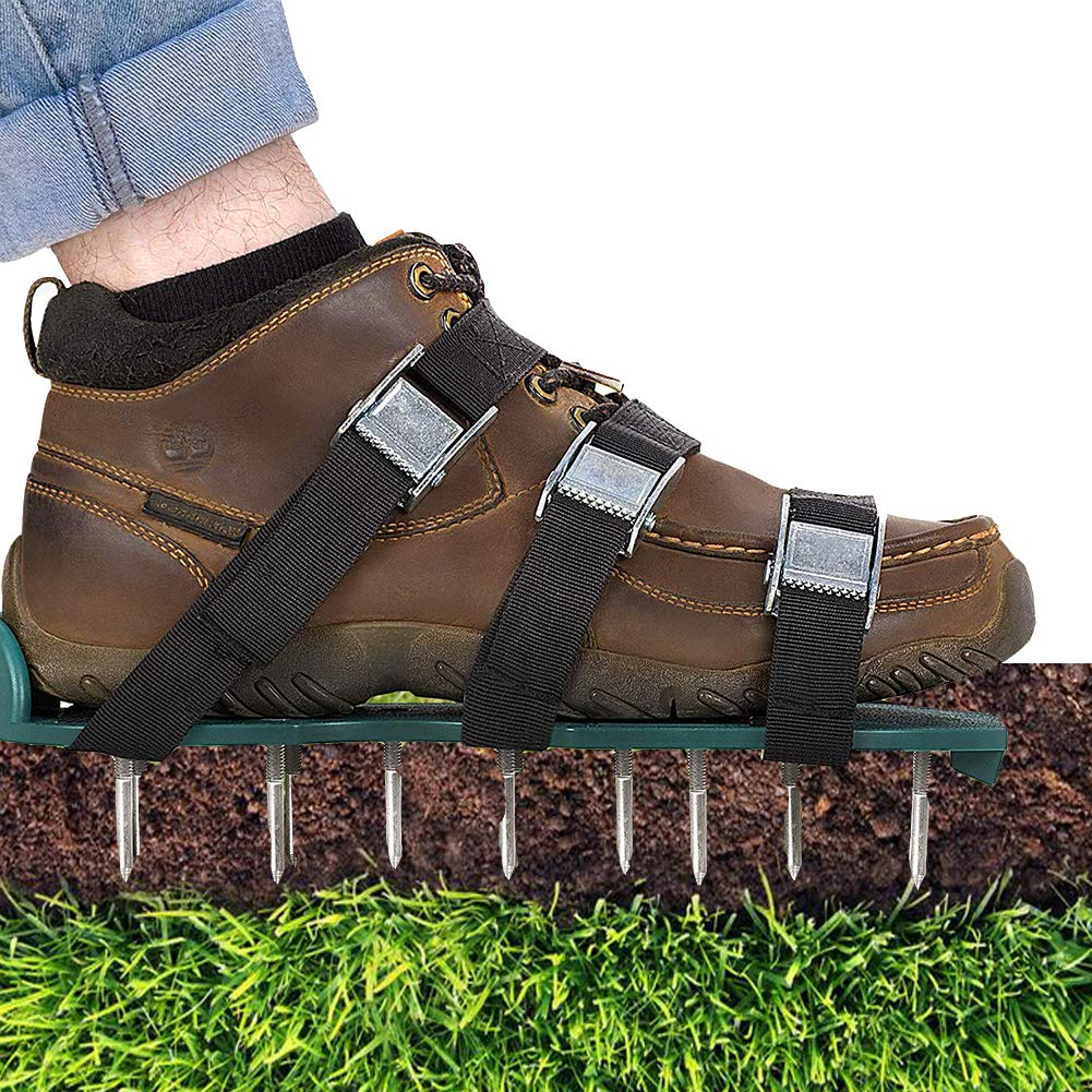 Law Aerator Sandals,Yard Spike Shoes for Effectively Aerating Lawn Soil Easy Use for a Healthier Yard & Garden
