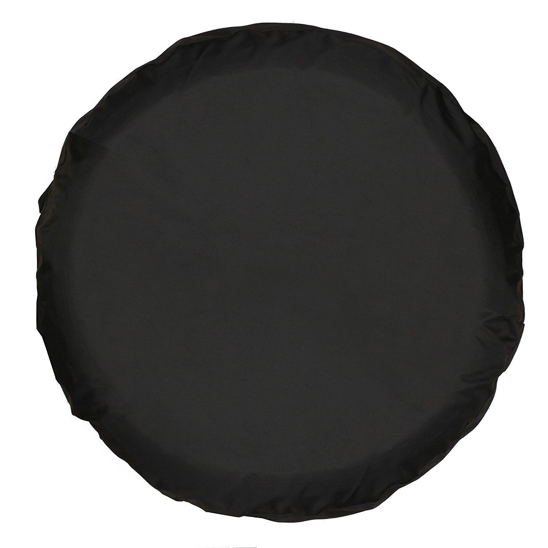 universal spare tire cover black 16 inch