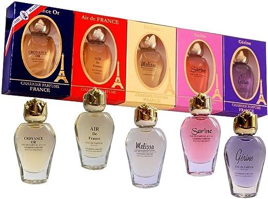 Charrier Parfums Pack Charrier Pack de 5 estuches de agua de perfume Miniatures total 42,5 ml: Amazon.es: Belleza