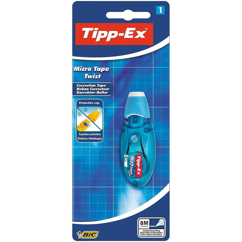 Tipp-Ex Micro Tape Twist Correttore a nastro con punta girevole, 1 pezzo, colori assortiti BIC 8705001
