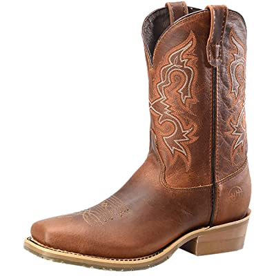 """Double H Men's 11"""" Domestic Wide Square Steel Toe Work Western Boot - Light Brown"""