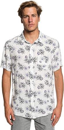 Quiksilver - Camisa de Manga Corta - Hombre - L - Blanco: Amazon.es: Ropa y accesorios