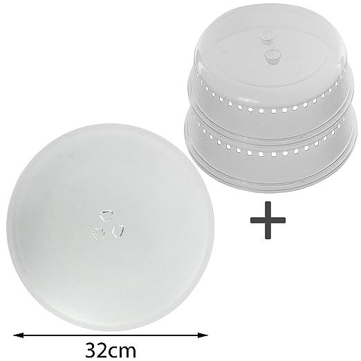 Spares2go plato universal para microondas (32 cm) (+ 2 ...