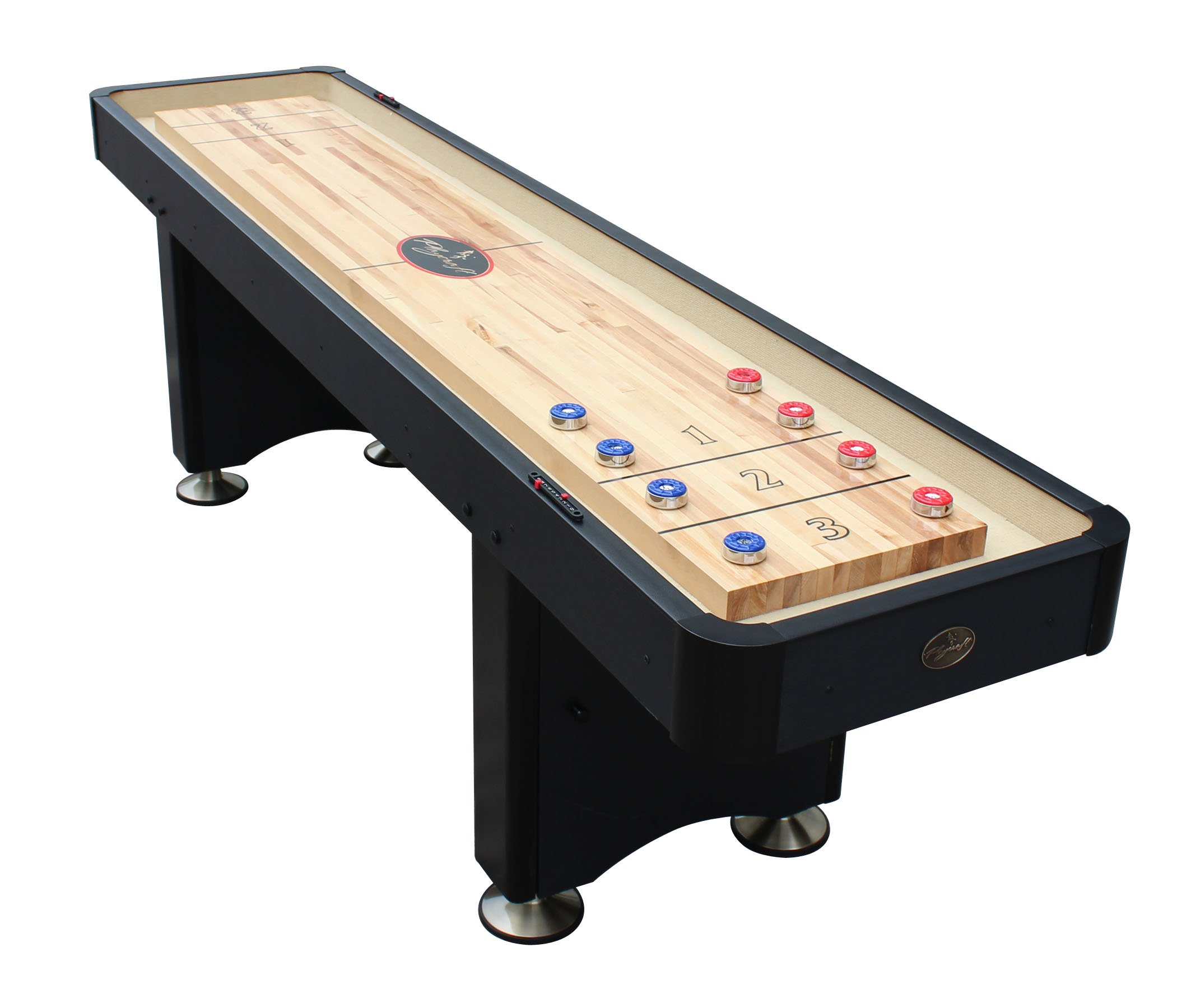 Playcraft Woodbridge Shuffleboard Table, Black, 9' by Playcraft