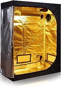 """TopoLite 48""""x24""""x60"""" 600D Grow Tent Room Reflective Mylar Indoor Garden Growing Room Hydroponic System Dark Room"""