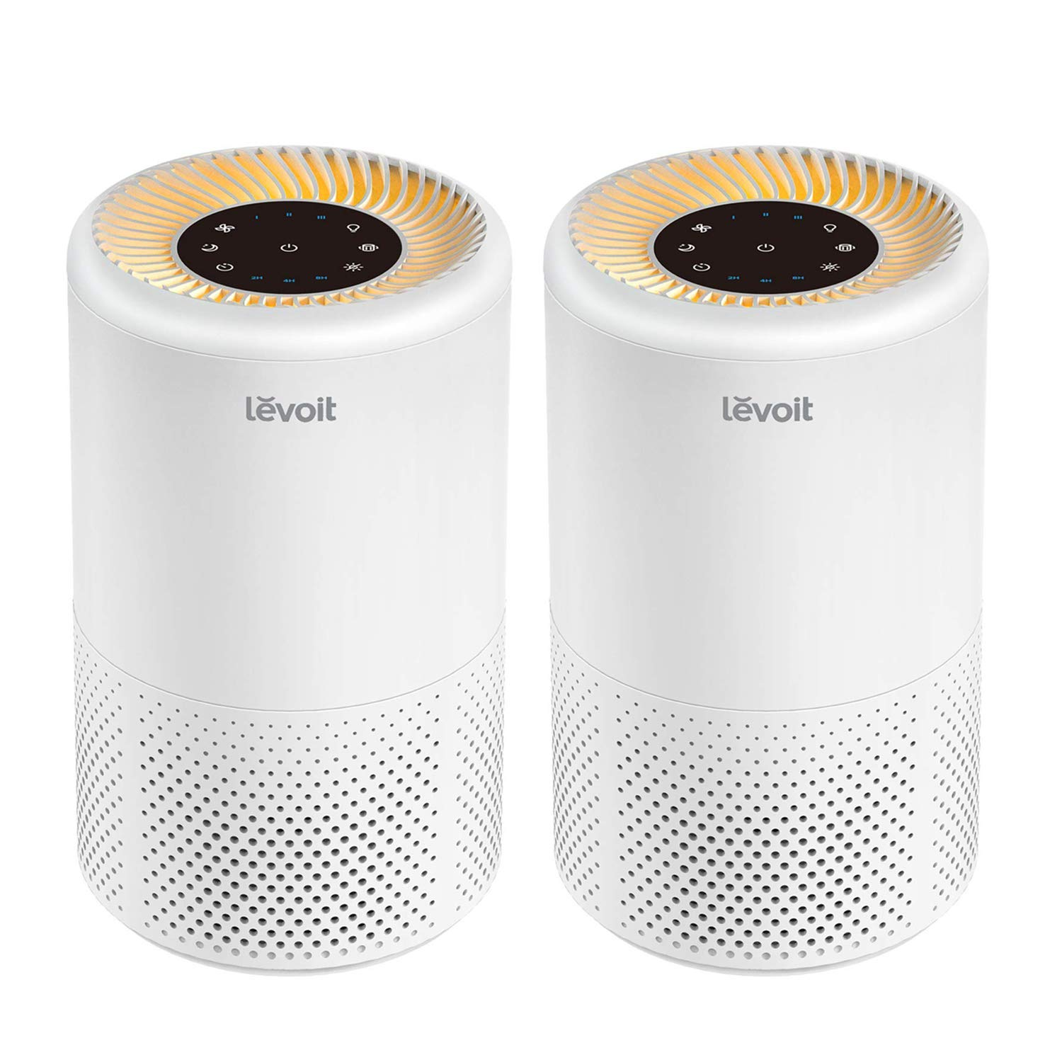 LEVOIT Air Purifier for Home Smokers Allergies and Pets Hair, True HEPA Filter, Quiet in Bedroom,Filtration System Cleaner Eliminators, 99.97 Odor Smoke Dust Mold, Night Light Timer, Vista 200, 2PACK