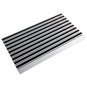 Casa Pura Profi Brush Slim, Aluminium Scraper Entrance Mat, Black, (50x80cm)
