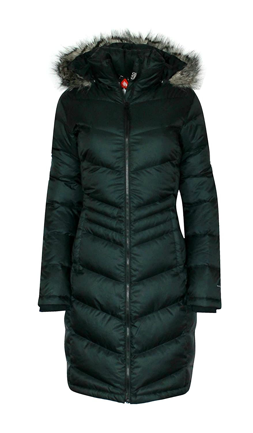 Columbia Women's Polar Freeze Long Down Jacket Omni Heat Warm Winter Coat