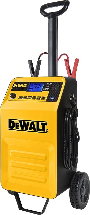 2 Amp Maintainer DEWALT DXAEC210 70 Amp Rolling Battery Charger: 210 Amp Engine Start Battery Clamps 3.1A USB Port 120V AC Outlet
