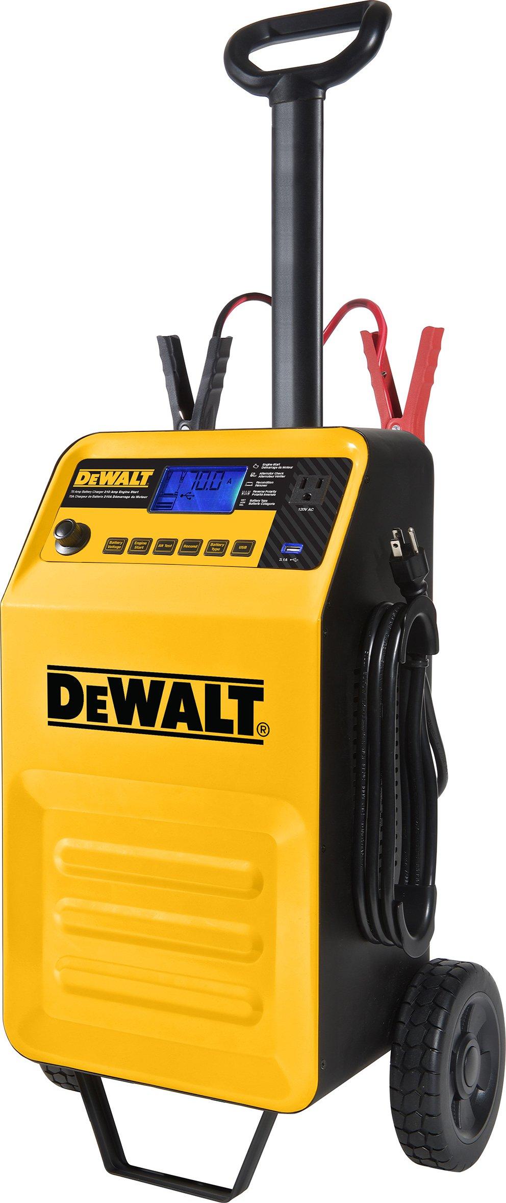 Galleon - DEWALT DXAEC210 70 Amp Rolling Battery Charger: 210 Amp