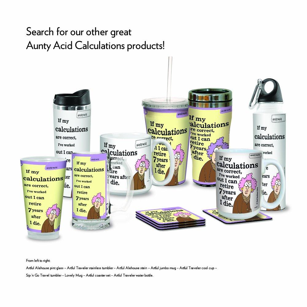 20-Ounce Tree-Free Greetings XM27911 Aunty Acid Artful Jumbo Mug Calculations Tree Free