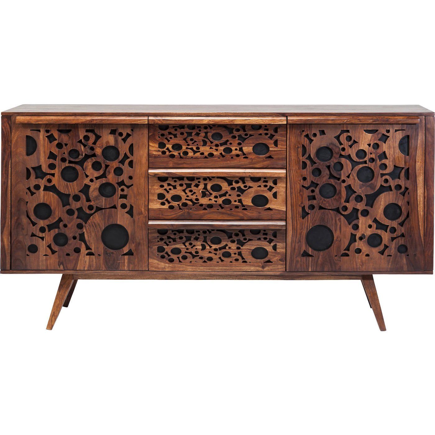 retro sideboard kommode sheesham visual massivholz 60er. Black Bedroom Furniture Sets. Home Design Ideas