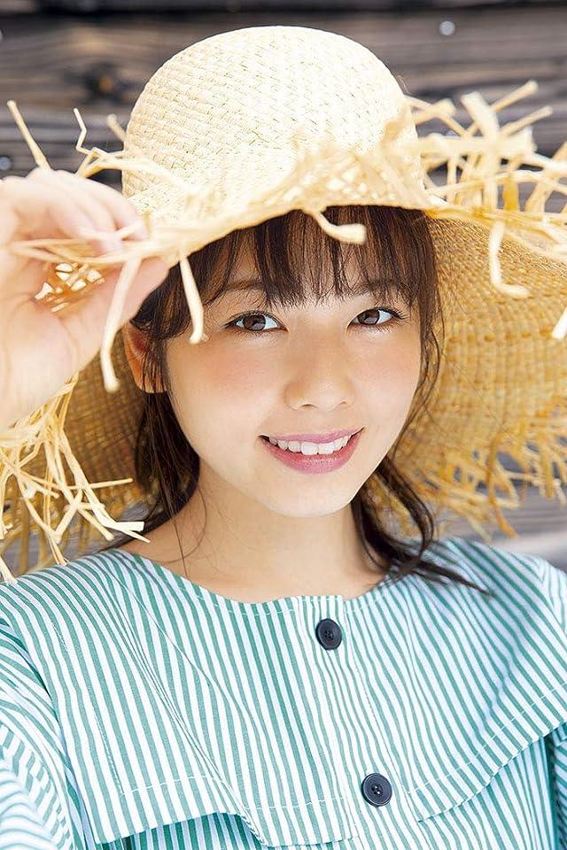 小芝風花 iPhone(640×960)壁紙 麦わら帽子ストライプ 女性
