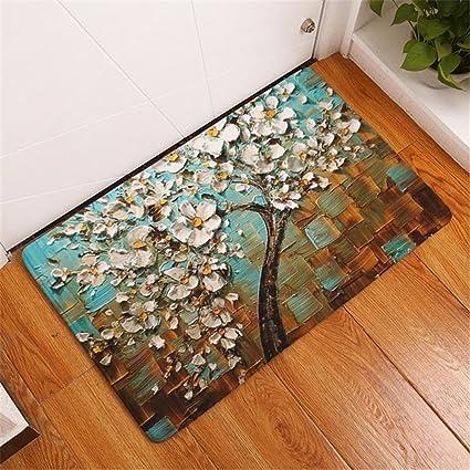 Amazon.com: CarPet Modern 3D Painting Flower Trees Carpets Anti-Slip ...