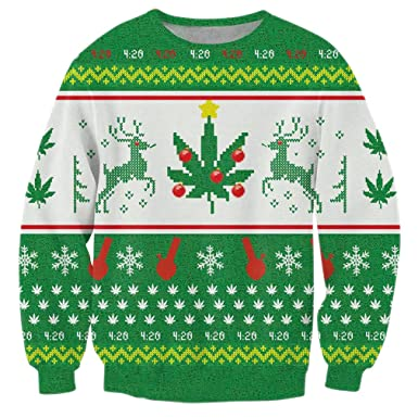 RAISEVERN Unisex Traditional Classical Ugly Christmas Xmas Pullover Sweatshirt Sweater for Women Men X-Large