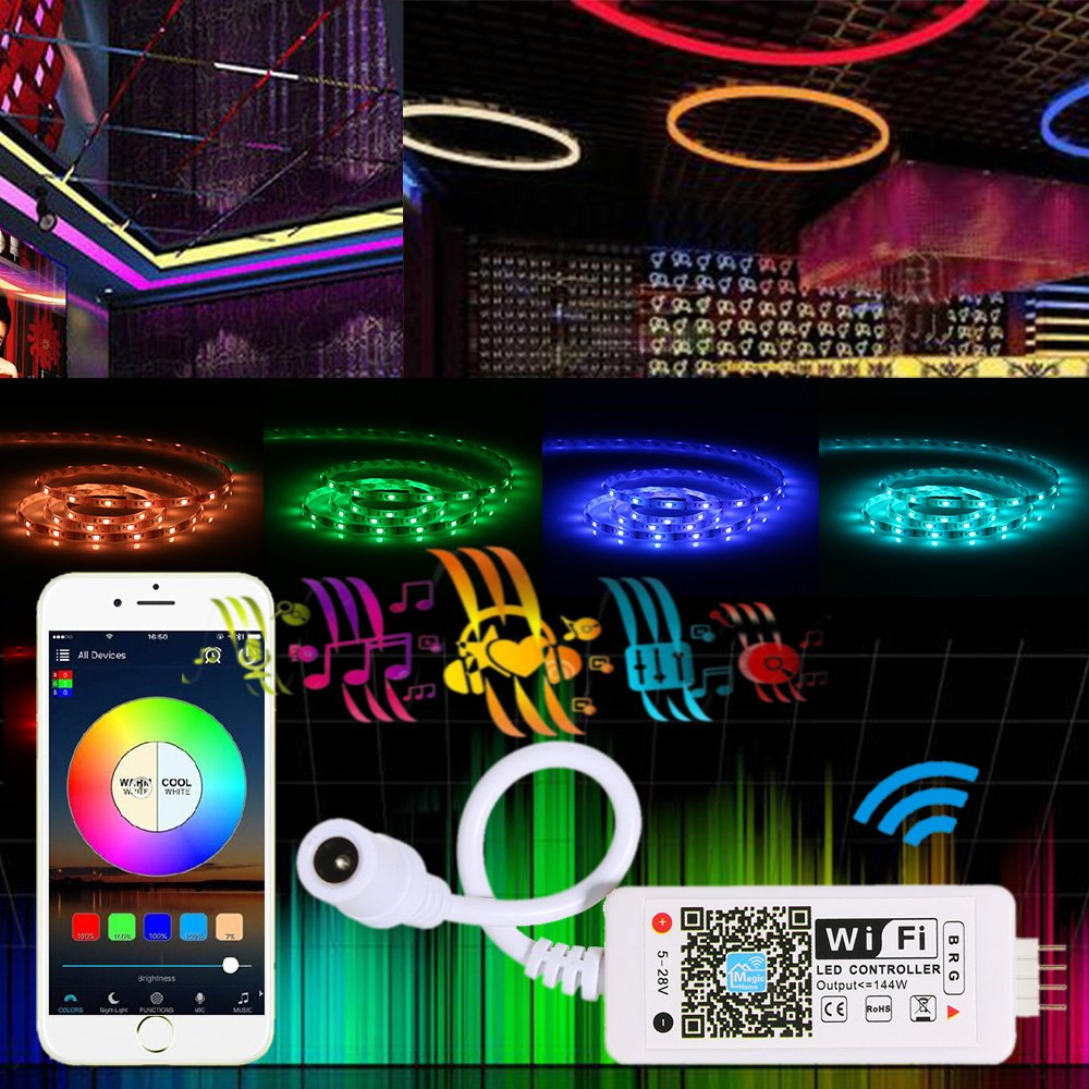 smartphone magic mini wifi rgb fernbedienung steuerung f r led streifen strip ebay. Black Bedroom Furniture Sets. Home Design Ideas