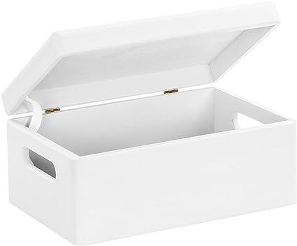 Hojas Lust – Caja de Madera para Guardar en tamaño m – Pino Blanco Lacado Aprox