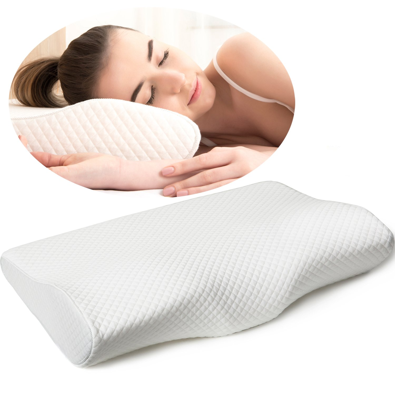 cushion for pillow pain itm shaped memory foam relief neck butterfly cervical rebound