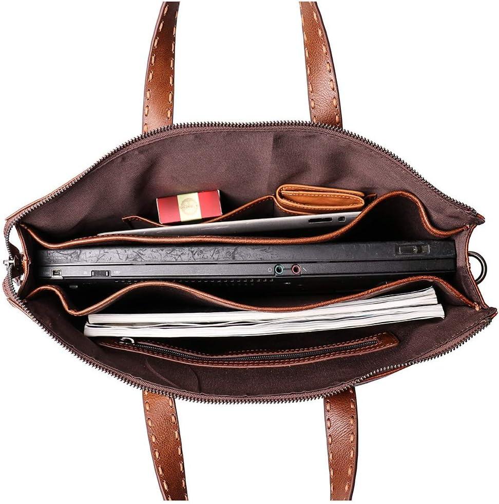Brown LB1 High Performance Leather Unisex Business Messenger Bag Briefcase Bag for Acer Black Aspire V5-131-2629 11.6 Laptop