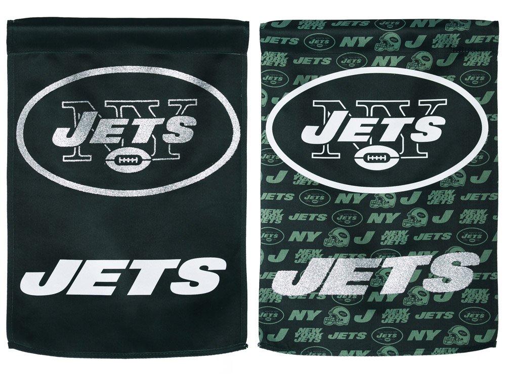 NFLニューヨークJets Two Sided Glitter Embellished庭フラグ、M、マルチカラー   B00J4VCMRK, 冷えとり靴下のシルクパーティー 6e8f5c70