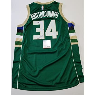 25b495795 ... release date giannis antetokounmpo signed jersey psa dna authentic milwaukee  bucks signed greece 979f1 f5f5f