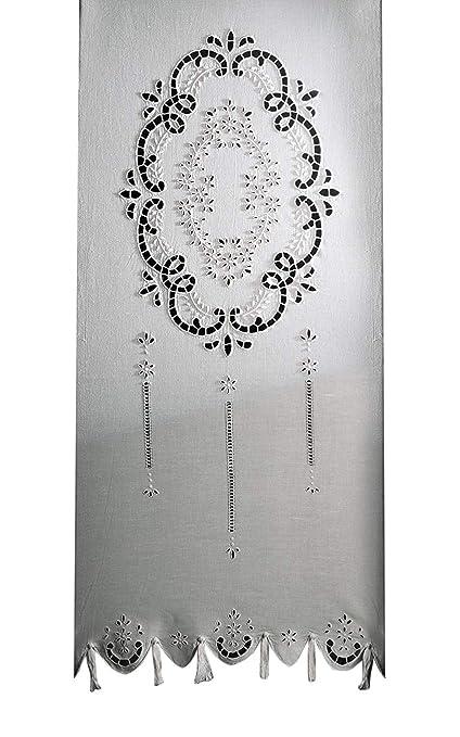 Tende Misto Lino Ricamate.Zenoni Colombi Coppia Di Tende Ricamate A Mano Doria Made In Italy Misto Lino Varie Dimensioni 58x150