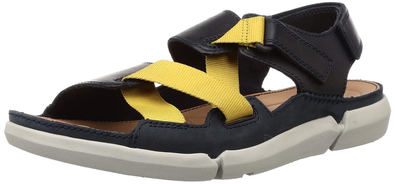 Frágil Peregrinación Falsedad  Buy Clarks Men's Trisand Sun Blue Leather Sandals-7 UK/India (41 EU)  (91261333027070) at Amazon.in