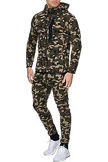 e246b7e84df6c Violento Herren Camouflage Army Jogginganzug Jogging Hose Jacke Sportanzug  Military