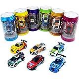 WONZOM ラジコンカー こども向け 1/64 室内 ラジコン 車 ミニ ラジコン缶 レーシングカー ギフト プレゼント