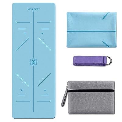 KUYOU Yoga Mat Foldable 1//16 Inch Thick Non-Slip Travel Yoga Mat Cover Pad Sweat