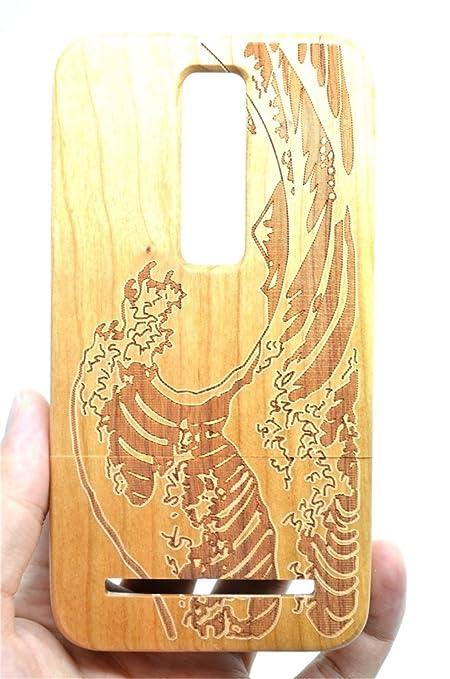 13 opinioni per RoseFlower® ASUS ZenFone 2 5.5'' Legno Custodia- Seawave legno ciliegio- Qualit