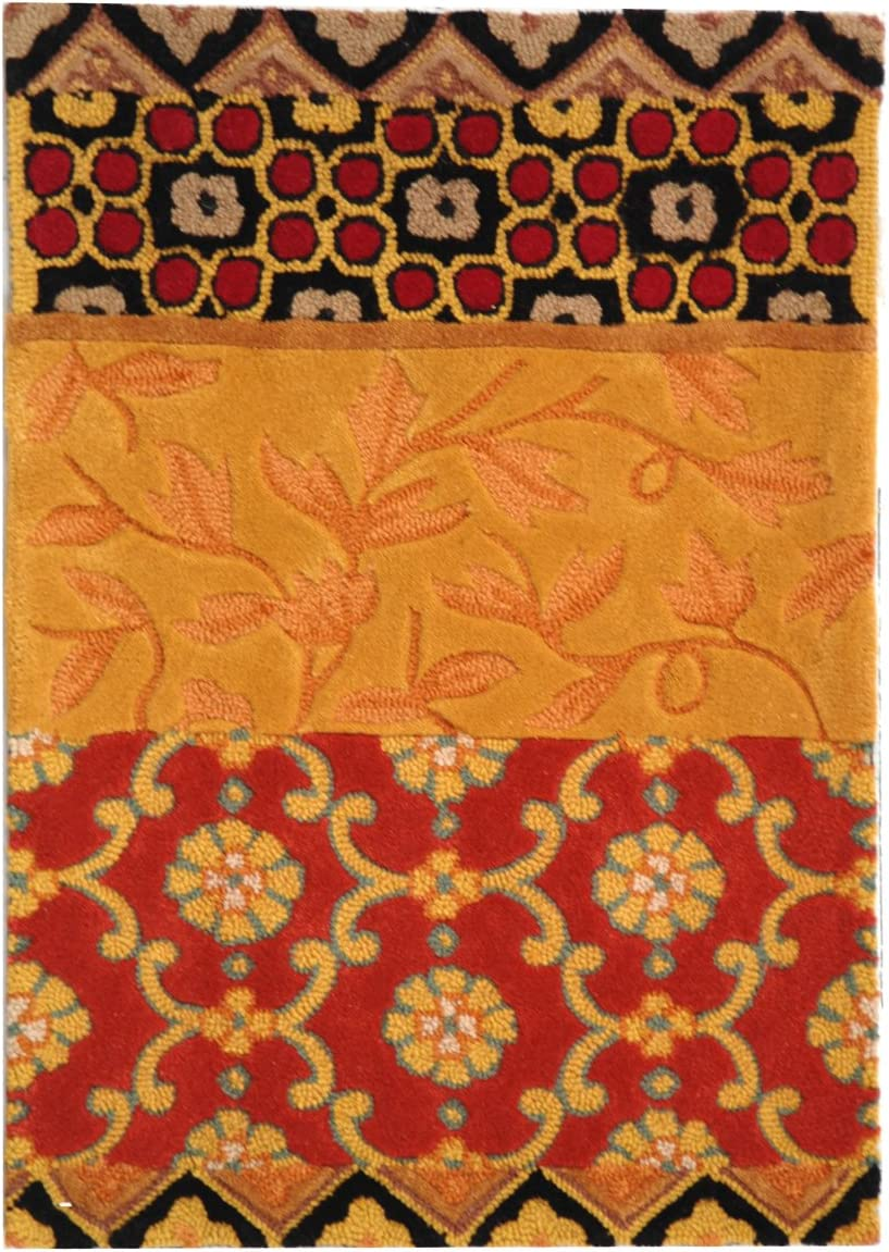 Safavieh Rodeo Drive Collection RD622K Handmade Rust and Gold Wool Area Rug 2 x 3