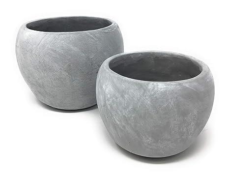 Serene espacios vida decorativa gris cemento Curvy pecera jarrón, ideal para boda, Event mesa