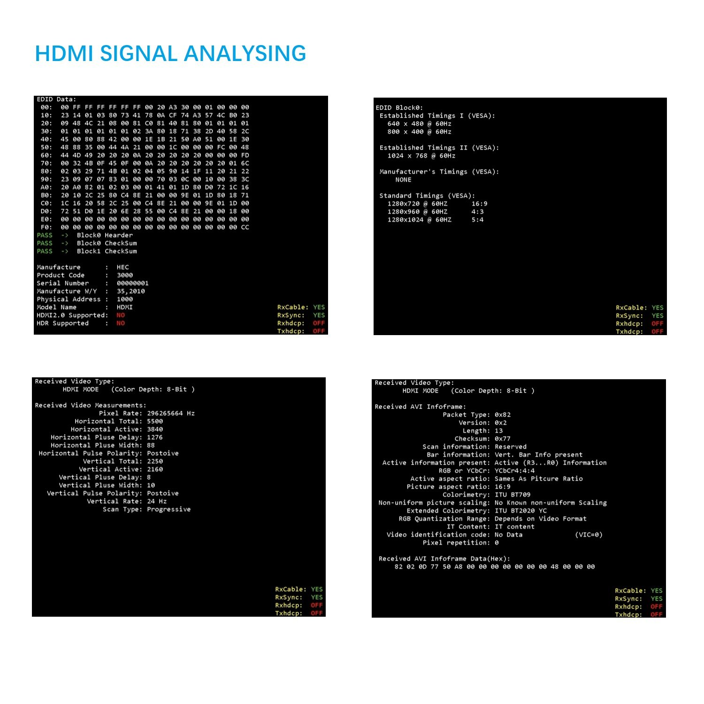 J Tech Digital 4k 60hz Hdmi 20 18g Signal Generator Audio Freeware Analyzer Supports Yuv 444 Hdcp 22 Cec Hdr Edid Testing Home Theater