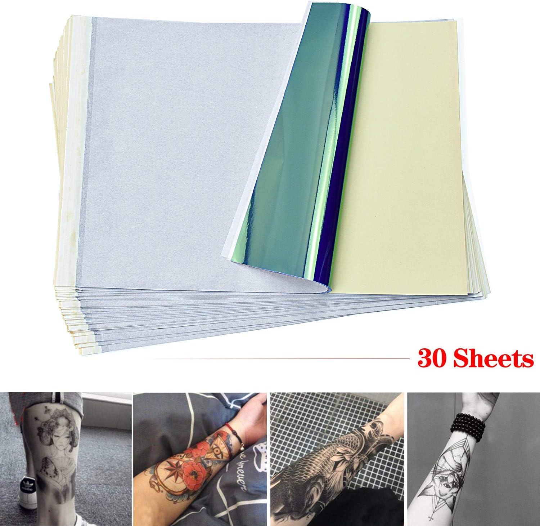 cococity Papel Hectografico Tattoo Suministro de tatuaje 30 piezas ...