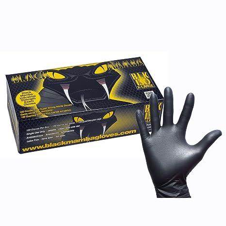 promozione ottima qualità vendita uk Black Mamba - Guanti da Lavoro in Nitrile, Confezione da 100 ...