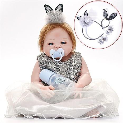 Reborn Doll Lovely Headdress bebé juguete regalo de silicona Recién ...
