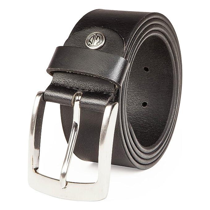 Lindenmann- Cinturón de cuero para hombre  Amazon.es  Ropa y accesorios 18e69e80979c
