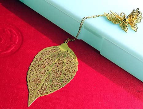 Oggetti Per Ufficio Da Regalare : Amupper segnalibro artistico in metallo dorato a forma di foglia