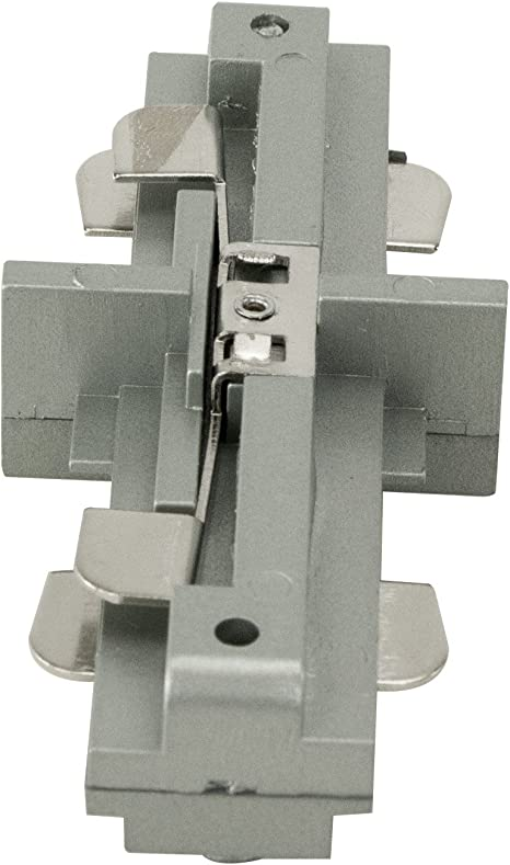 Direct-Lighting H System Single Circuit Track Straight Connector I Shaped Joiner 120V 20AMP HT-850095 Brushed Steel