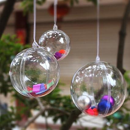 5pcs christmas tree decoration clear hanging ball gift candy hanging decration ball - Decorating Clear Christmas Balls