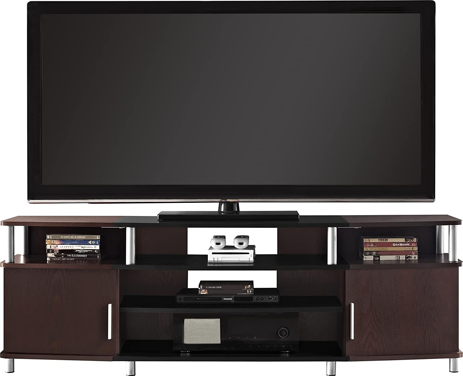 Amazoncom Ameriwood Home Carson TV Stand for TVs up to 70 Wide