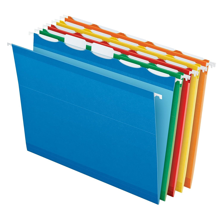 B0000AQOEP Pendaflex Ready-Tab Reinforced Hanging Folders, Letter Size, Assorted Colors, 5 Tab, 25/BX (42592) 71atVaQGlpL