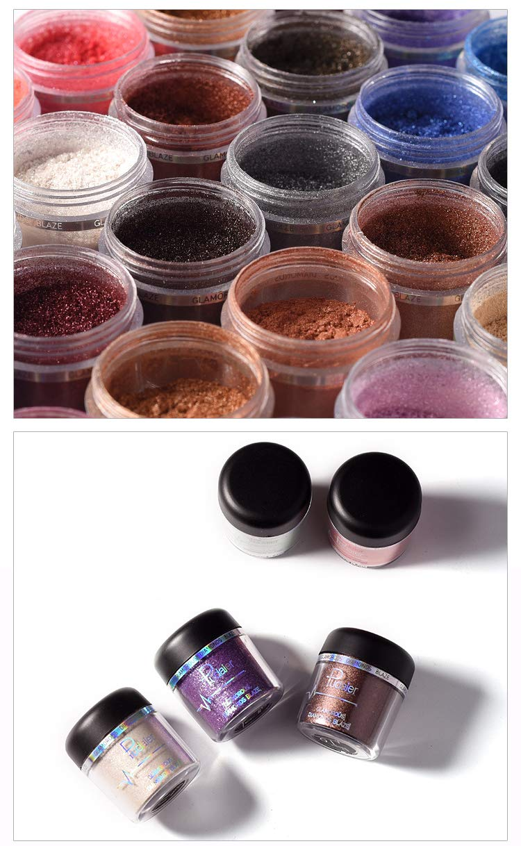 Glitter Eyeshadow Powder Pigments Eye Shadow Easy To Wear Waterproof Shimmer Cosmetics Powder Make Up