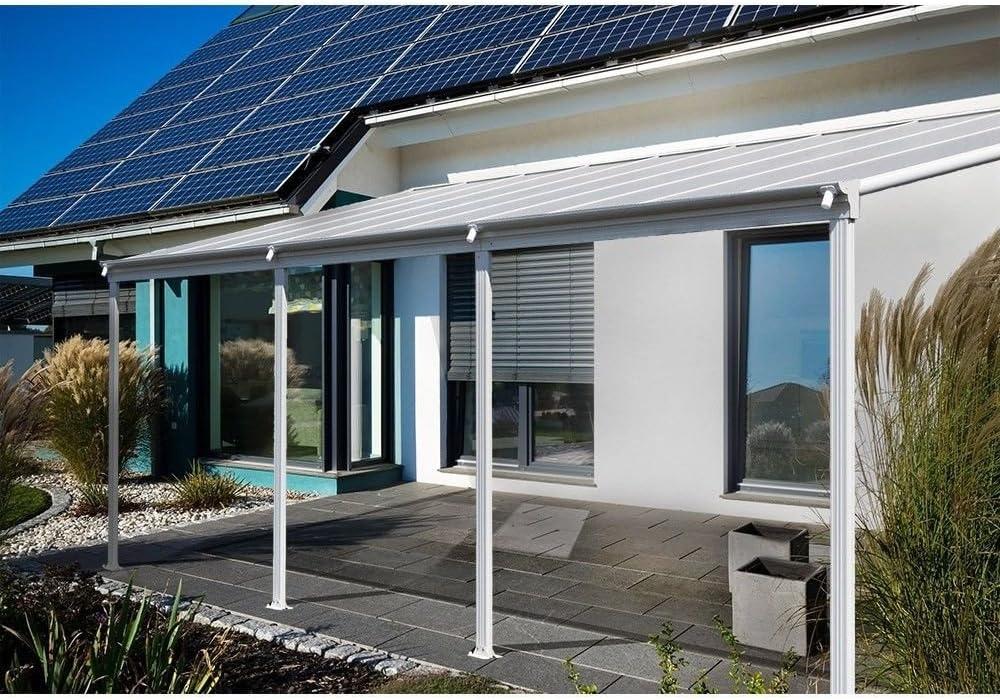 Aluminio prikker-überdachungen Terraza Techo 557 x 303 cm, la 6, 6 mm Fuerte, 100% de UV beständigen Alveolares (vordach Pergola techo Veranda CarPort Terraza Techo, carga 170 kg/m²: Amazon.es: Jardín