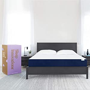 Sleep Innovations Marley Full 10 Inch Cooling Gel Memory Foam Mattress in a Box - Made in USA - Medium Firm - Pressure Relieving