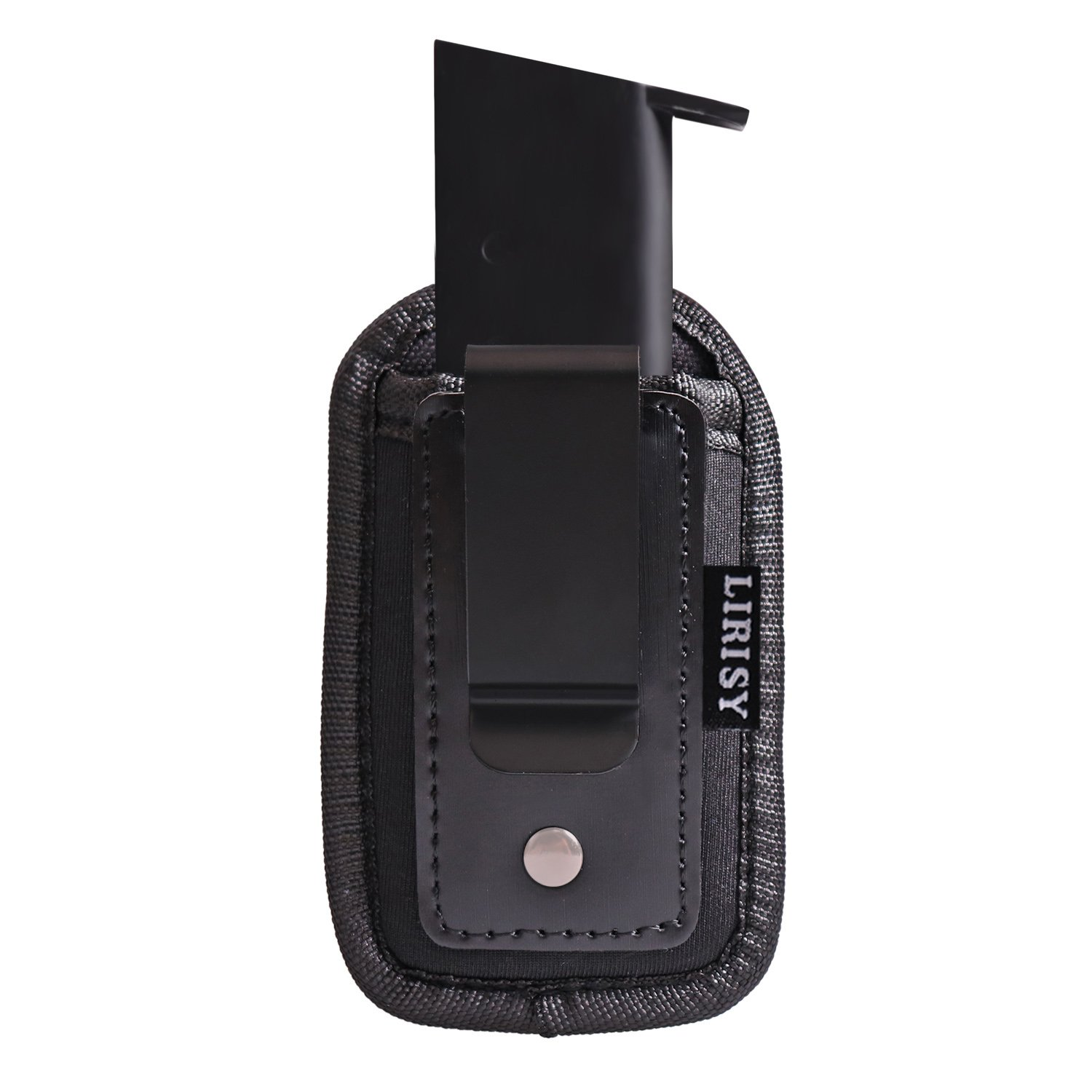 Lirisy Tactical Single Pistol Mag Pouch | Inside The Waistband IWB Mag Holder | Single and Double Stack Magazine Holster for 9mm/.40 cal/380